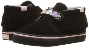 Vans Kids Chukka V Moc Black/English Rose) Girls Shoes