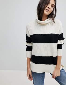 Esprit Stripe Roll Neck Sweater