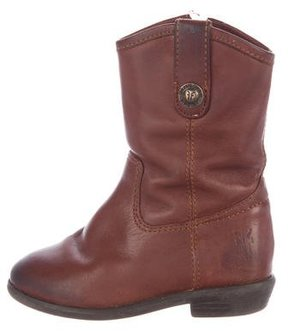Frye Girls' Leather Cowboy Boots