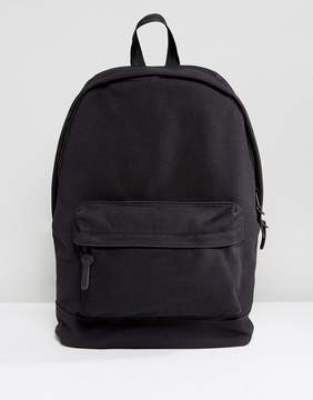 Asos Backpack In Textured Fabric In Black