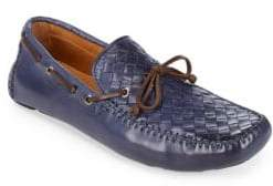 Saks Fifth Avenue Woven Penny Leather Moccasins