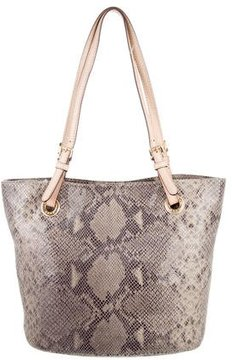 MICHAEL Michael Kors Textured Suede Tote - BROWN - STYLE