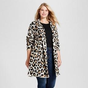 Ava & Viv Women's Plus Size Coatigan Animal Print