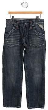 Ikks Girls' Straight-Leg Mid-Rise Jeans