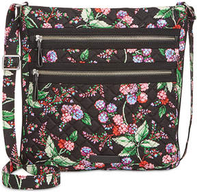 Vera Bradley Iconic Triple-Zip Hipster Crossbody