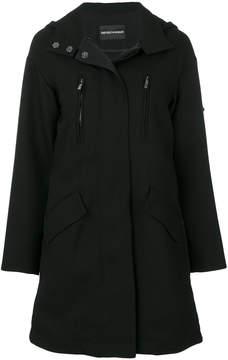 Emporio Armani coat with pleated back