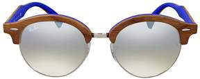 Ray-Ban Clubround Wood Silver Gradient Flash Sunglasses