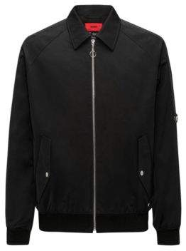 HUGO Boss Cotton Blend Jacket Bogoun M Black