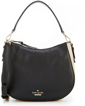 Kate Spade Jackson Street Small Mylie Colorblocked Hobo Bag - BLACK/SOFT PORCELAIN - STYLE
