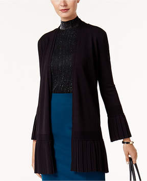 Alfani Pleated Cardigan Sweater, Created for Macy's