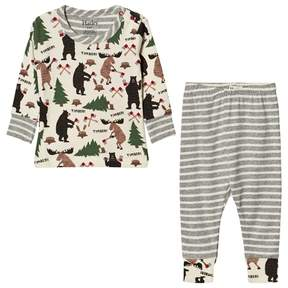 Hatley Cream Lumberjack Animal Pyjamas