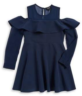 Bardot Girl's Cold-Shoulder Dress