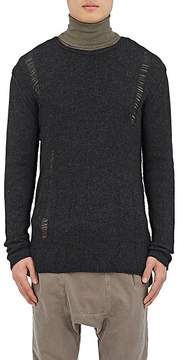 NSF Men's Wool-Cashmere Distressed Sweater