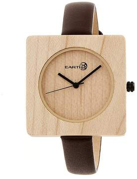 Earth Teton Collection ETHEW3901 Unisex Wood Watch with Leather Strap