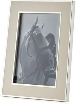 DAY Birger et Mikkelsen Tizo Wide Enamel 5 x 7 Picture Frame, White/Silver
