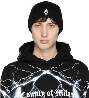Marcelo Burlon County of Milan Black Cruz Beanie