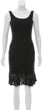 Carmen Marc Valvo Sleeveless Beaded Dress