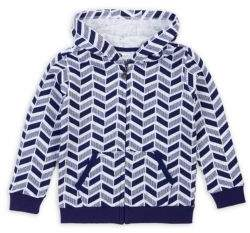 Petit Lem Little Boy's Modified Chevron Hoodie
