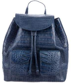 Nancy Gonzalez Crocodile Drawstring Backpack