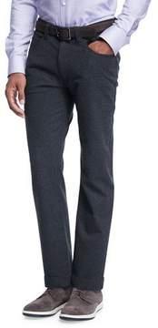 Armani Collezioni Flannel Five-Pocket Pants