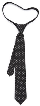Nordstrom Boy's Dot Silk Zip Tie