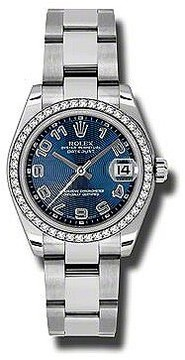 Rolex Datejust Lady 31 Blue Concentric Dial Stainless Steel Oyster Bracelet Automatic Watch