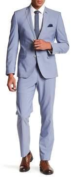 Nick Graham Pinstripe Two Button Notch Lapel Trim Fit Suit