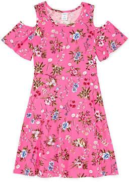Arizona Sleeveless Floral A-Line Dress Girls