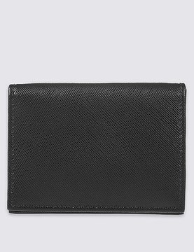 Marks and Spencer Leather Saffiano Card Case Wallet