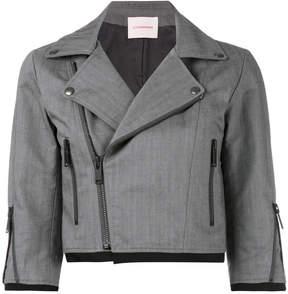 A.F.Vandevorst cropped biker style jacket