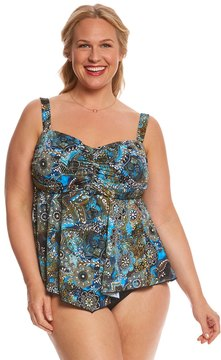 Fit 4 U Fit4U Plus Size Easy Living Bandeau Tankini Top 8155907