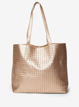 Dorothy Perkins Metallic Weave Shopper Bag