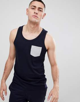French Connection Contrast Pocket Tank