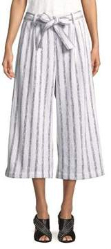 Ellen Tracy Striped Wide-Leg Pants