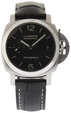 Panerai Luminor Marina PAM00392 Stainless Steel / Leather 42mm Mens Watch