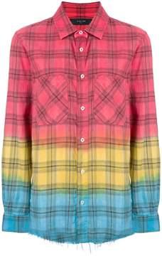 Amiri tie dye plaid shirt