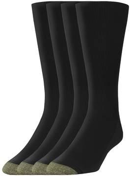 Gold Toe GOLDTOE Men's GOLDTOE 3-pack + 1 Bonus Metro Crew Socks