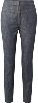 Tibi Jamie High-rise Tapered Jeans - Dark denim