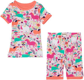 Hatley Pink Roaming Horses Short Pyjamas Set
