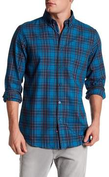 Report Collection Plaid Trim Fit Shirt