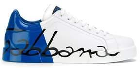 Dolce & Gabbana Dolce E Gabbana Men's White/blue Leather Sneakers.