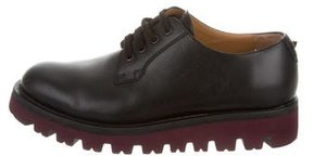 Valentino Leather Lace-Up Derby Shoes