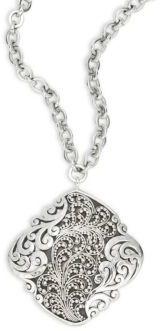Lois Hill Diamond-Shaped Pendant Necklace