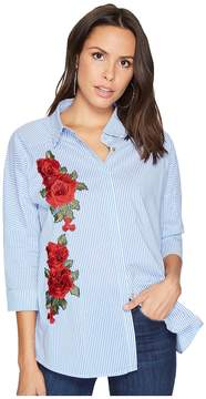 Bishop + Young Patchwork Button Up Women's Clothing