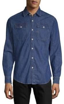 G Star Slim Cotton Button-Down Shirt