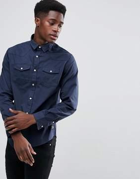 Brave Soul Double Pocket Long Sleeve Shirt