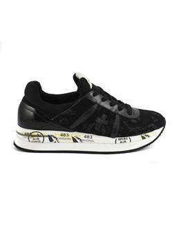 Premiata Liz Sneaker In Black Laced And Leather