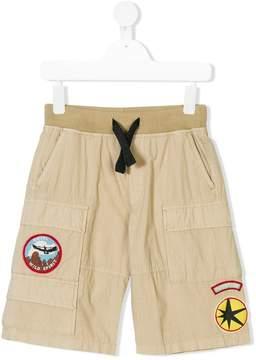 Diesel logo patch shorts