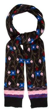 Marc Jacobs Floral Knit Scarf