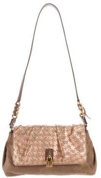 Marc Jacobs Crystal-Embellished Ponyhair Shoulder Bag - BROWN - STYLE